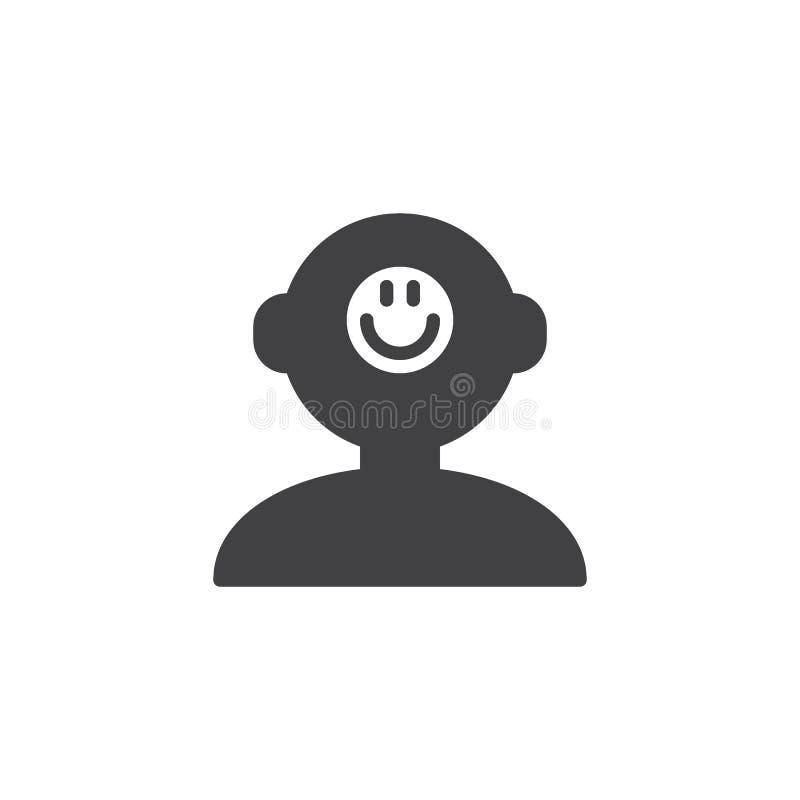 Bonne icône de vecteur d'esprit humain d'humeur illustration libre de droits