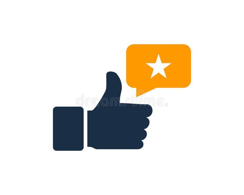 Bonne meilleure icône testimoniale Logo Design Element illustration libre de droits