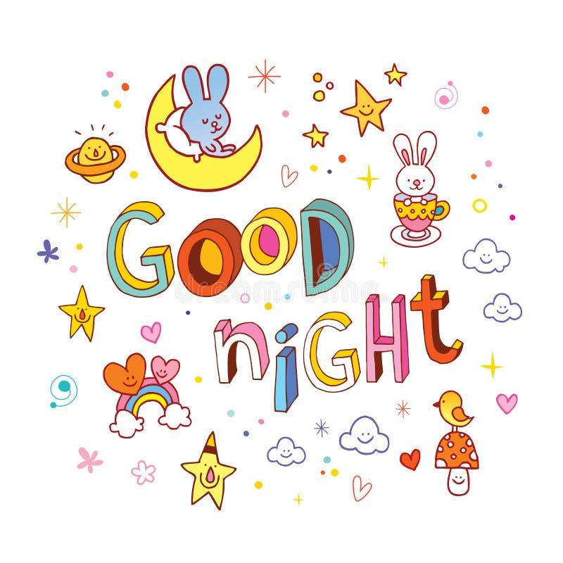 Bonne nuit illustration de vecteur