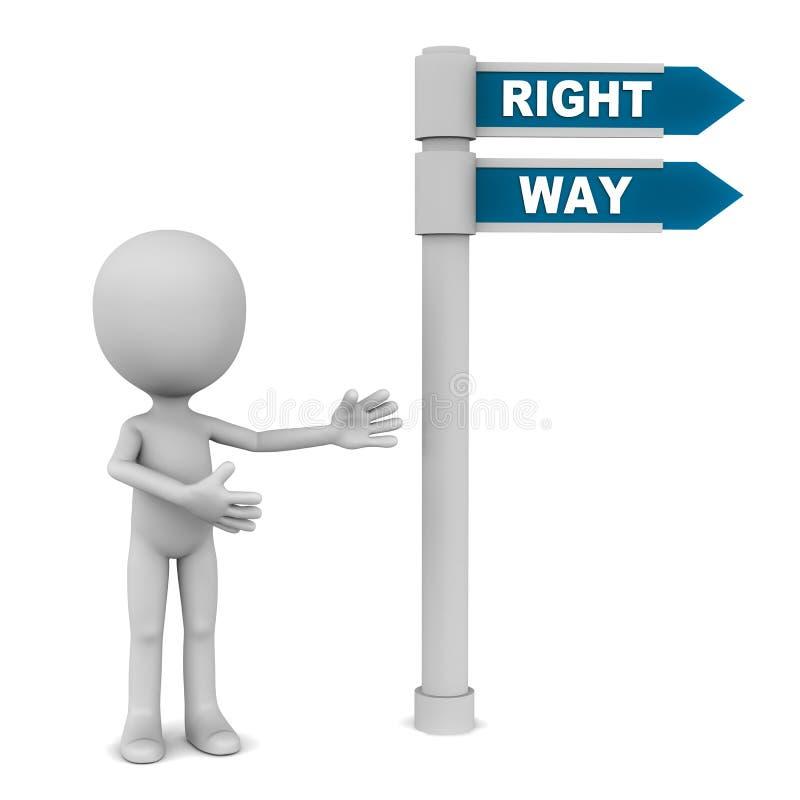 Bonne voie illustration libre de droits