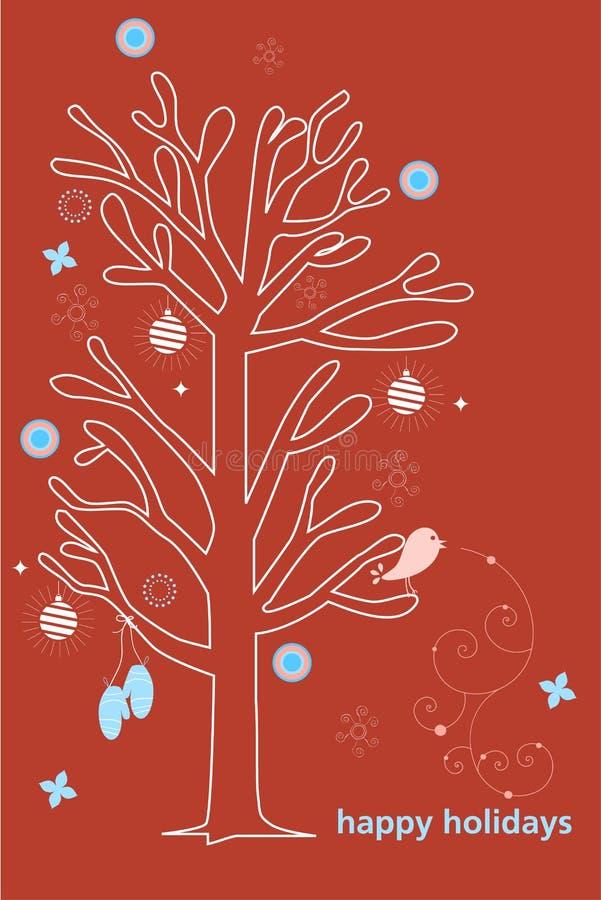 Bonnes fêtes carte illustration stock
