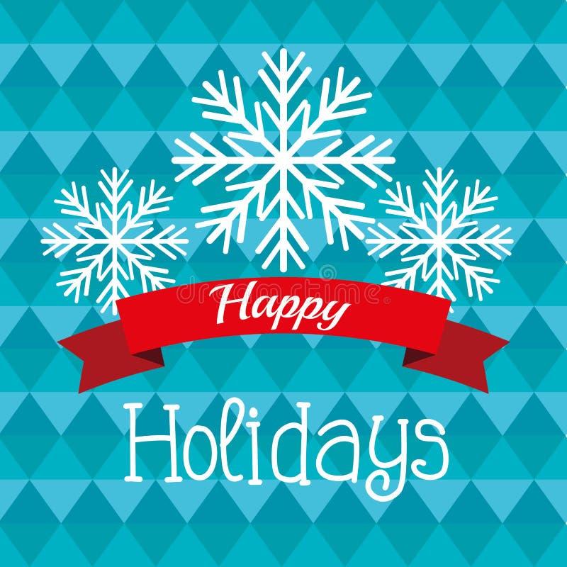 Bonnes fêtes conception de Noël illustration stock