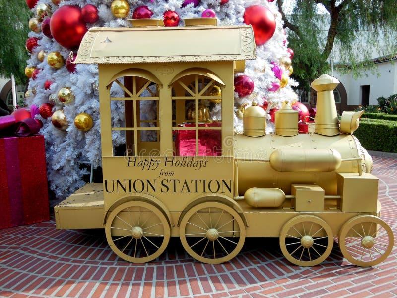Bonnes fêtes de la station des syndicats image stock