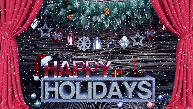 Bonnes fêtes fond avec des ornements illustration libre de droits