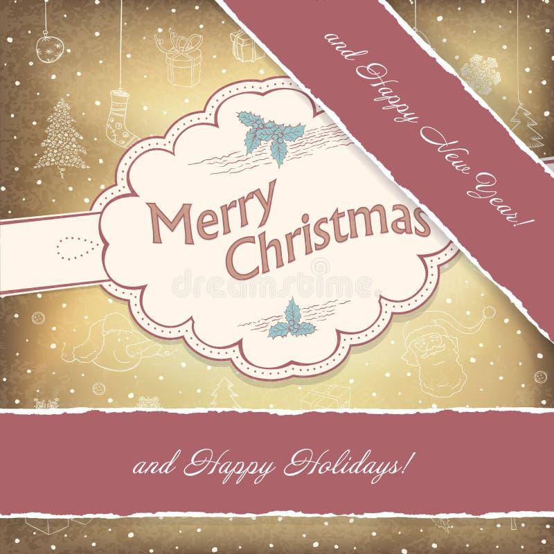 Bonnes fêtes fond de cru. illustration stock