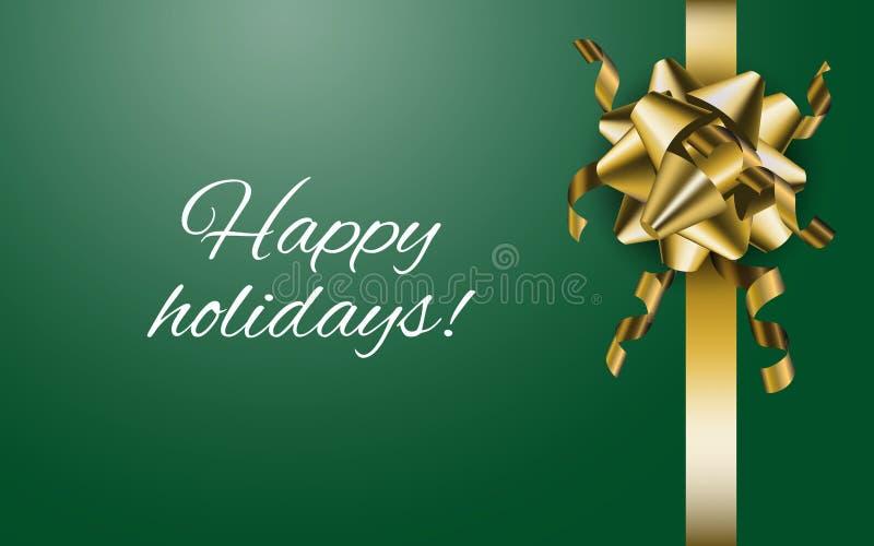 Bonnes fêtes Fond de Noël et de nouvelle année avec le ruban illustration libre de droits
