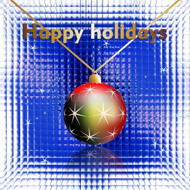 Bonnes fêtes souhaits sur le fond en verre images libres de droits