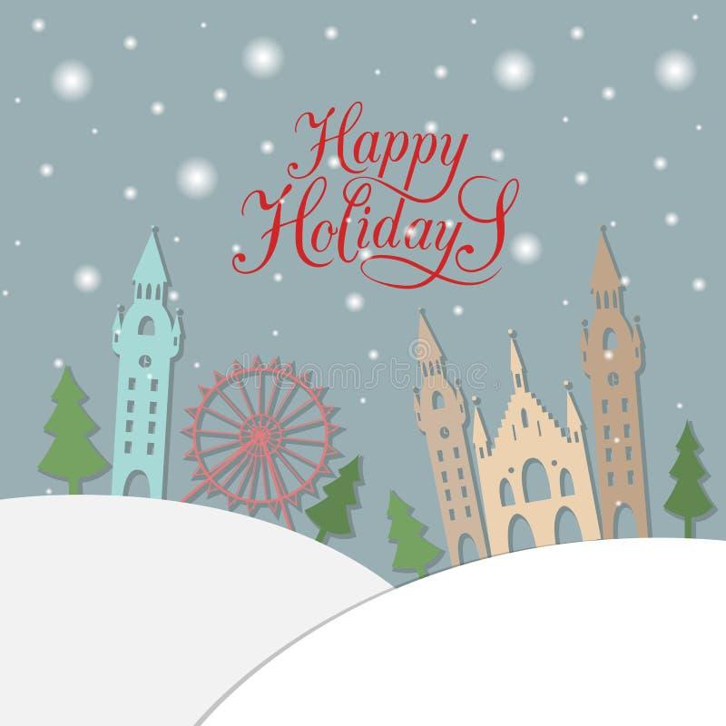 Bonnes fêtes typographie carte de voeux pour de Noël/nouvelle année illustration libre de droits