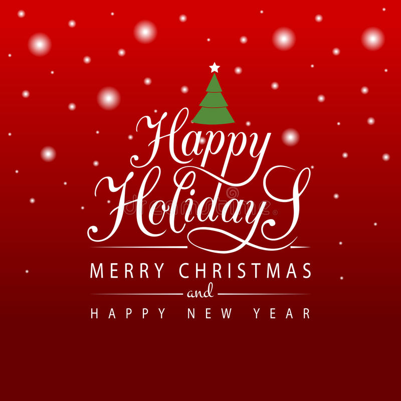 Bonnes fêtes typographie pendant Noël/nouvelle année de card/i de salutation illustration libre de droits