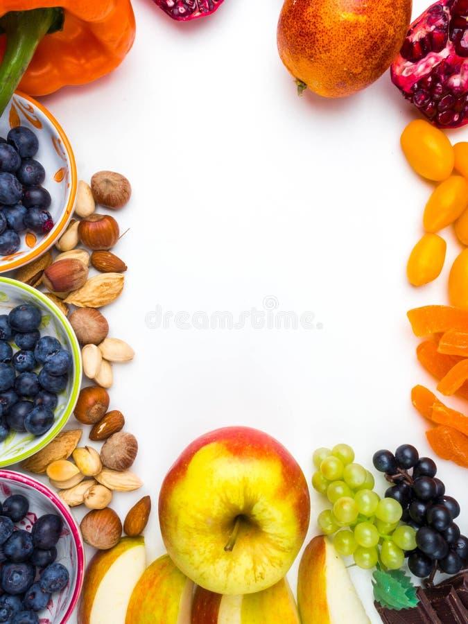 Bonnes nourritures pour le coeur Régime sain nourriture saine superbe, riches en antioxydants, bonnes sources des vitamines, resv images stock