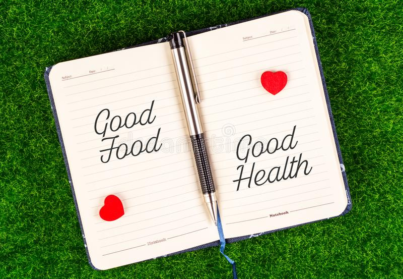 Bonnes bonnes santés d'égal de nourriture images libres de droits