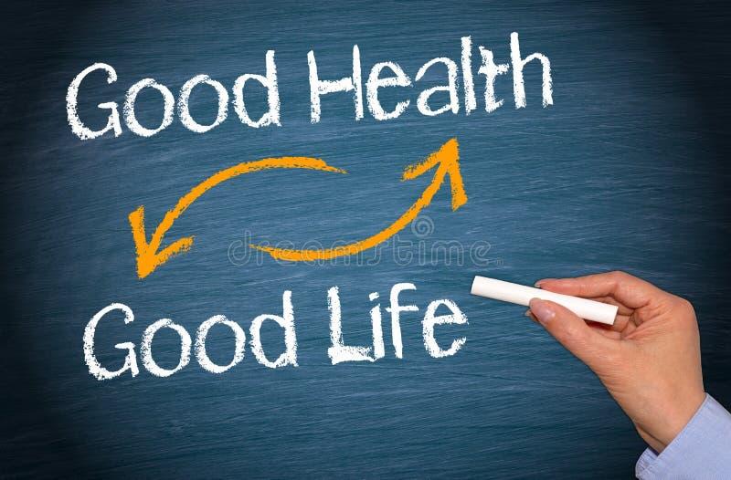 Bonnes santés et bonne vie image libre de droits