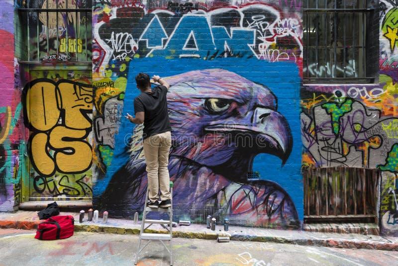 Bonnetier Lane à Melbourne, Australie image libre de droits