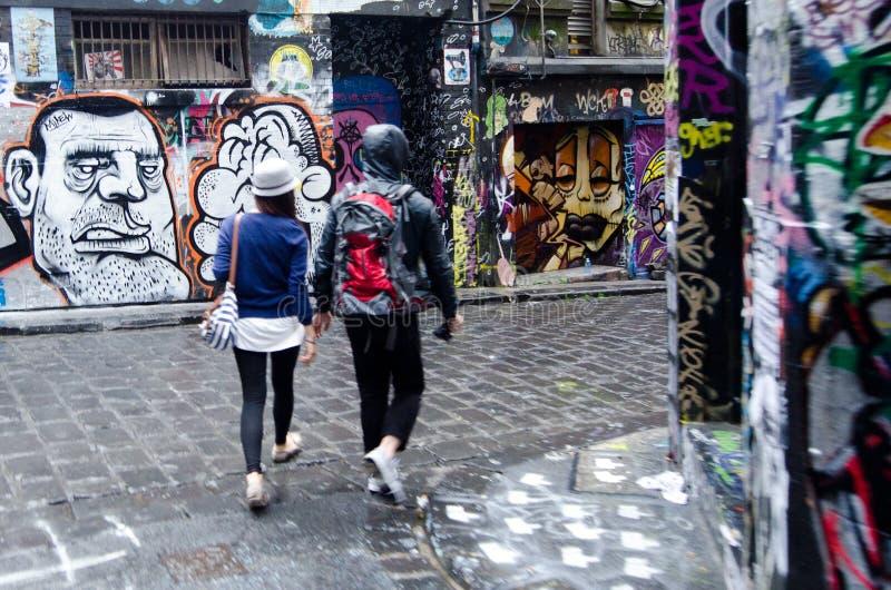 Bonnetier Lane - Melbourne photo stock
