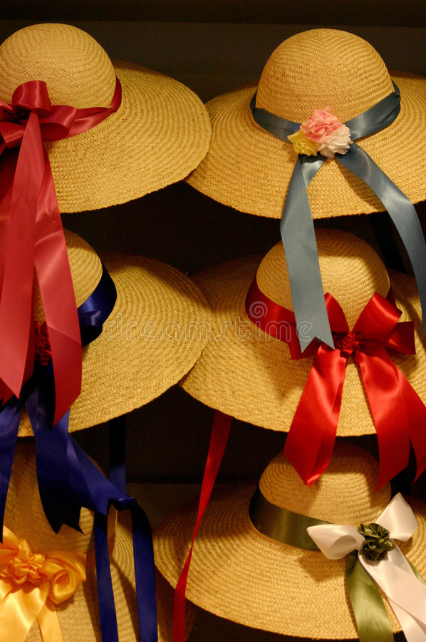 Download Bonnets stock image. Image of ribbons, hats, fashion, straw - 109035