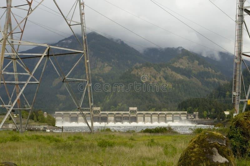 bonneville水坝 免版税库存图片