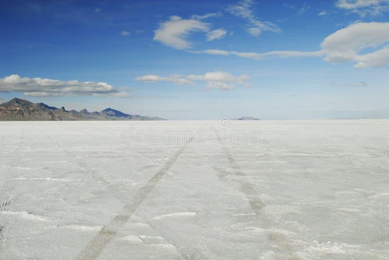 bonneville mieszkań soli opona tropi Utah fotografia royalty free
