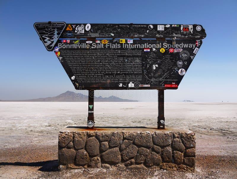 Bonneville soli mieszkań Międzynarodowy żużel, Utah obrazy royalty free