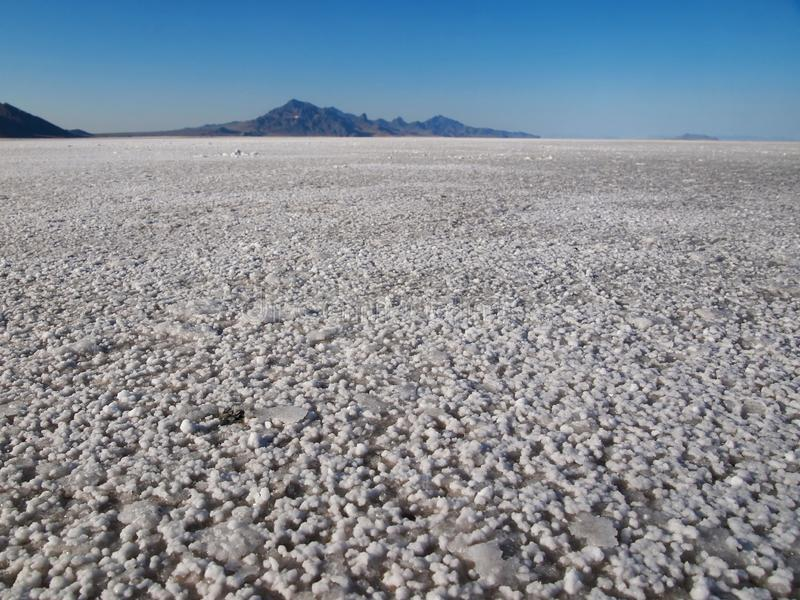 Bonneville soli mieszkania na ziemi obraz stock