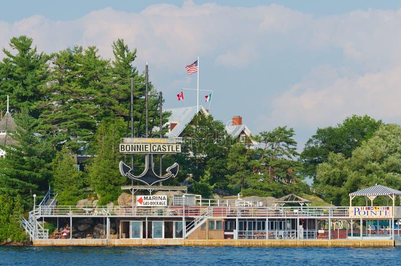 Bonnie Castle Resort Alexandria Bay USA royaltyfria bilder