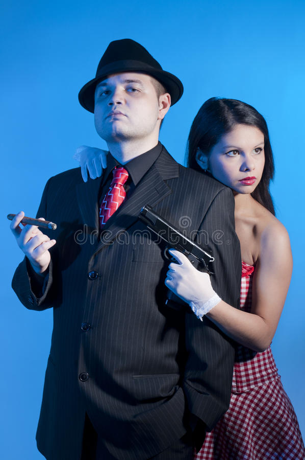 Bonnie and clyde royalty free stock photos