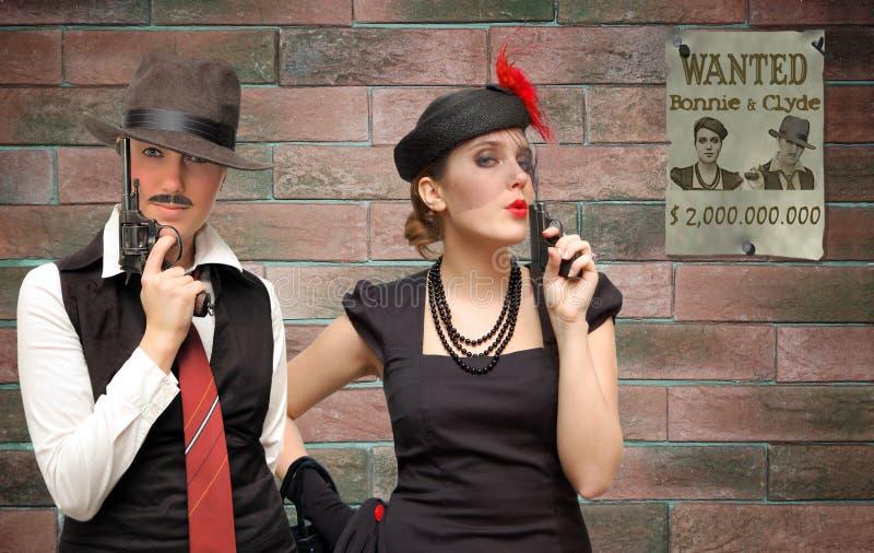 Bonnie en Clyde royalty-vrije stock fotografie