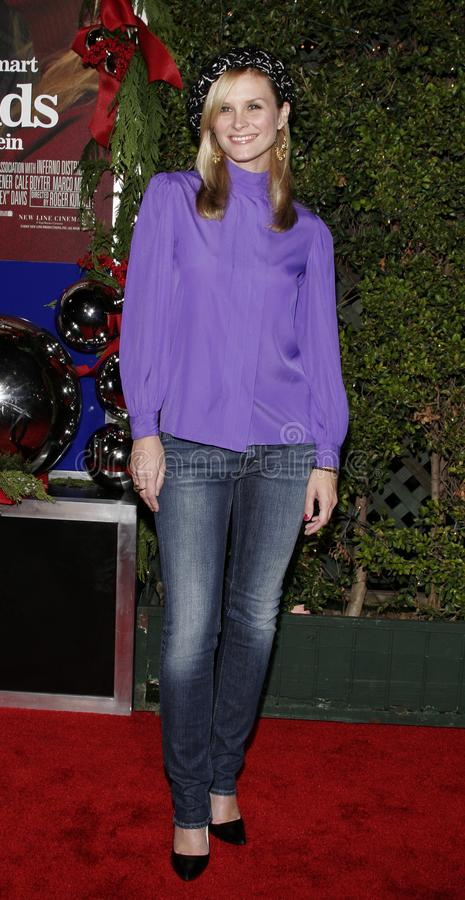 Bonnie Somerville. WESTWOOD, CALIFORNIA. November 14, 2005. Bonnie Somerville at the `Just Friends` Premiere at the Mann Village Theatre in Westwood, California stock image