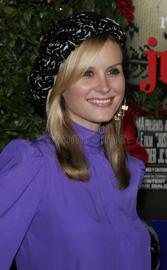 Bonnie Somerville. WESTWOOD, CALIFORNIA. November 14, 2005. Bonnie Somerville at the Just Friends Premiere at the Mann Village Theatre in Westwood, California stock photography