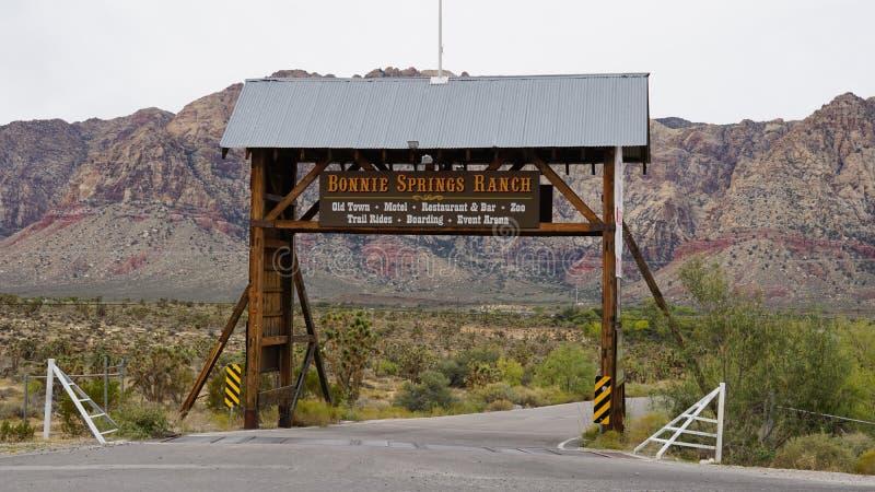 Bonnie Springs Ranch en Las Vegas, Nevada foto de archivo