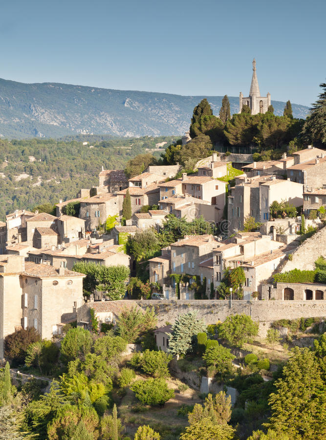 Download Bonnieux stock image. Image of vaucluse, luberon, village - 25873721