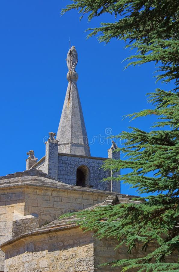 Download Bonnieux church stock photo. Image of nature, pines, france - 28561144