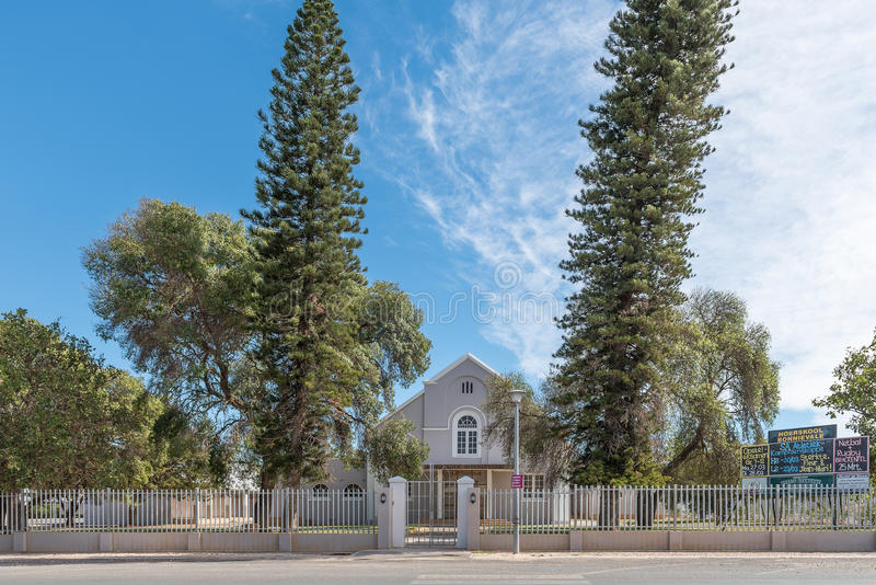 Bonnievale Secondary School. BONNIEVALE, SOUTH AFRICA - MARCH 26, 2017: The Bonnievale Secondary School in Bonnievale, a small town in the Western Cape Province royalty free stock image