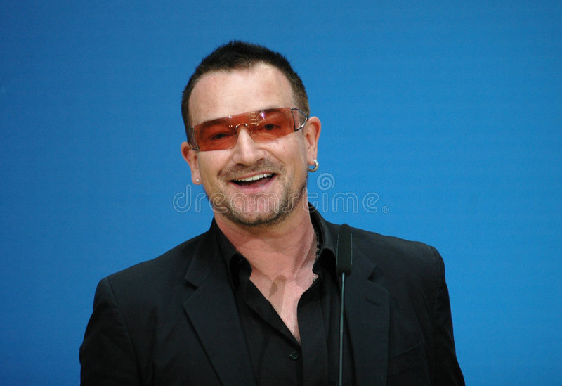 Bono. (aka: Paul David Hewson)singer of the band U2, file image of 2007 stock image