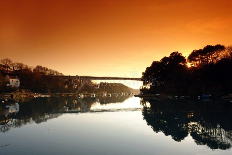 Bono Brücke in Bretagne lizenzfreie stockfotos