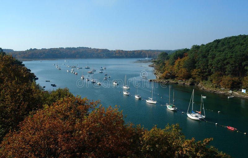 Bono river in brittany royalty free stock photo