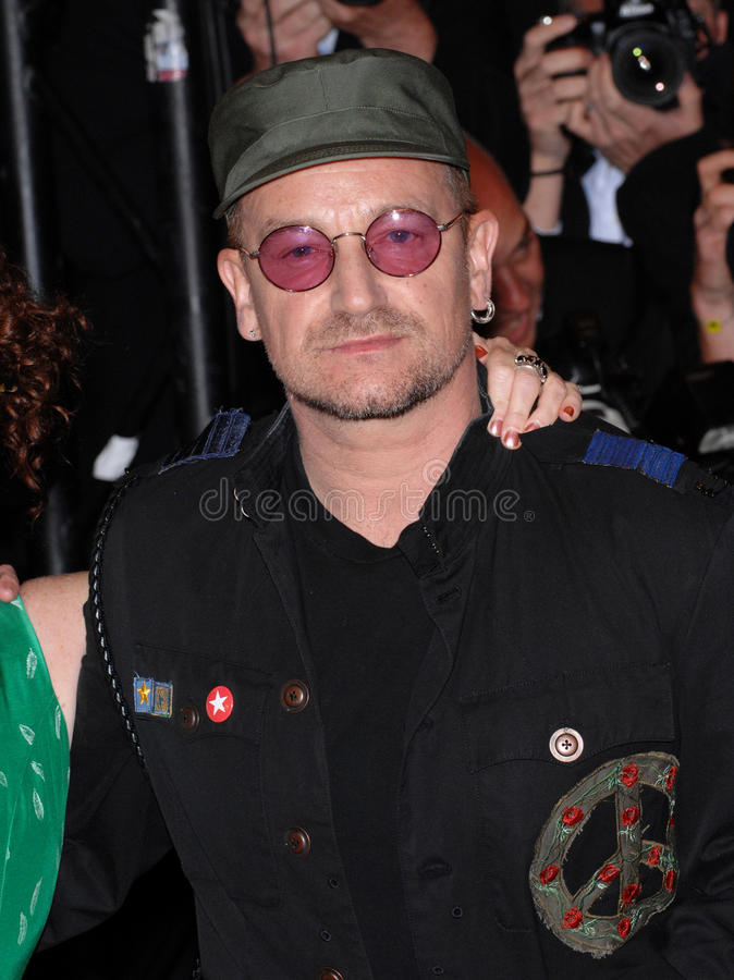 Bono,U 2, royalty free stock image