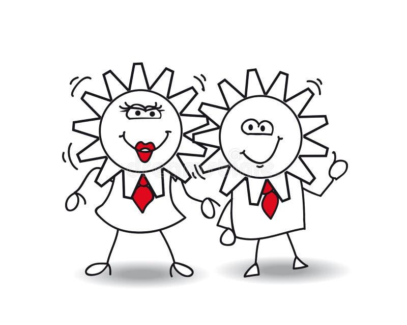 Bons relacionamentos ilustração royalty free