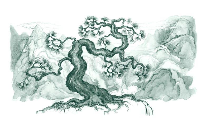 Bonsai royalty-vrije illustratie