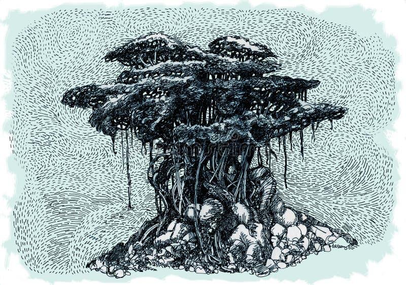 Bonsai Banyan stock illustratie
