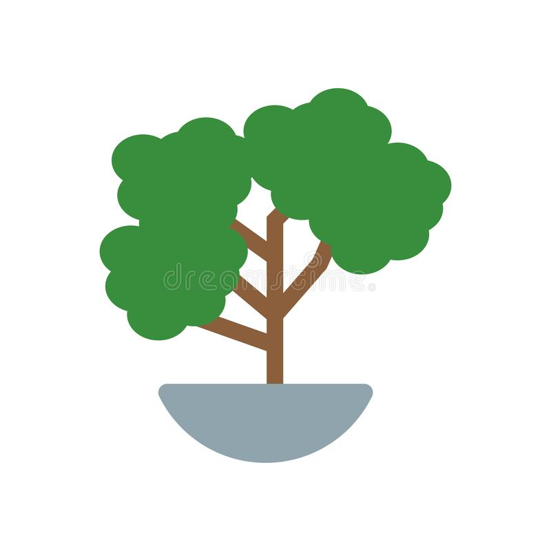Bonsai icon vector sign and symbol isolated on white background, Bonsai logo concept vector illustration