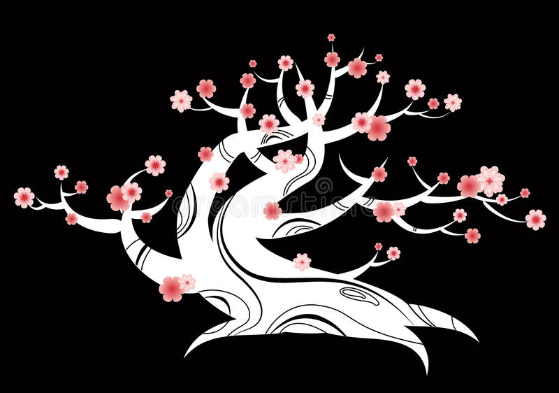 Download Bonsai japanese tree stock vector. Illustration of branches - 14332617