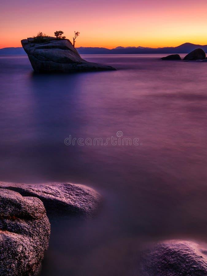 Free Bonsai Rock, Lake Tahoe Royalty Free Stock Photography - 103372407