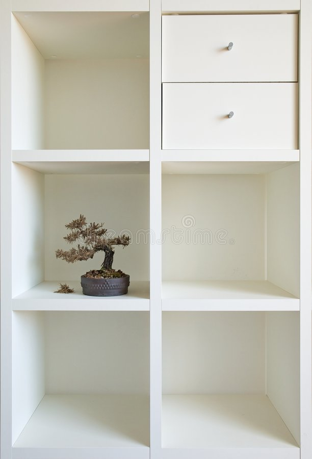 Bonsai shelf I stock images