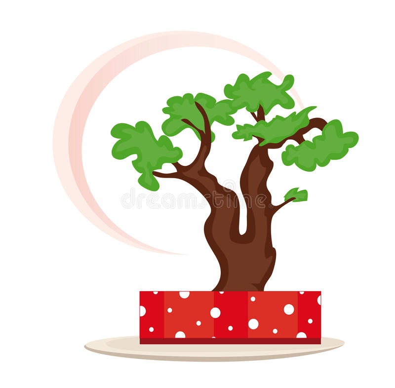 Download Bonsai tree stock vector. Image of clip, abstract, symbol - 16081736