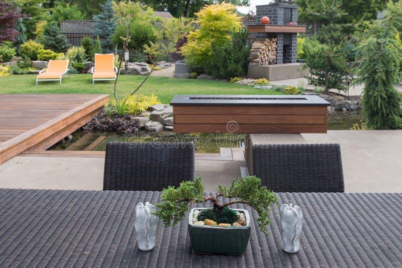 Bonsai z stołem obrazy stock