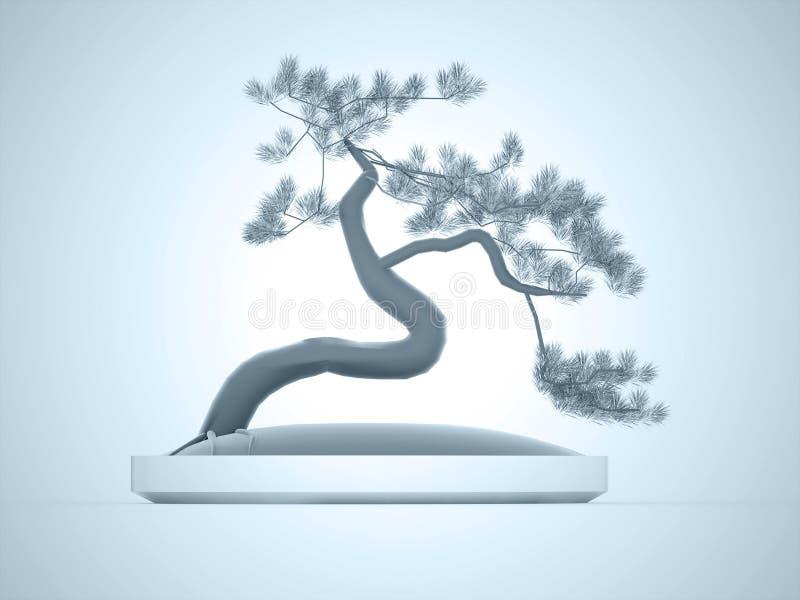 Bonsaibaum übertragen stock abbildung