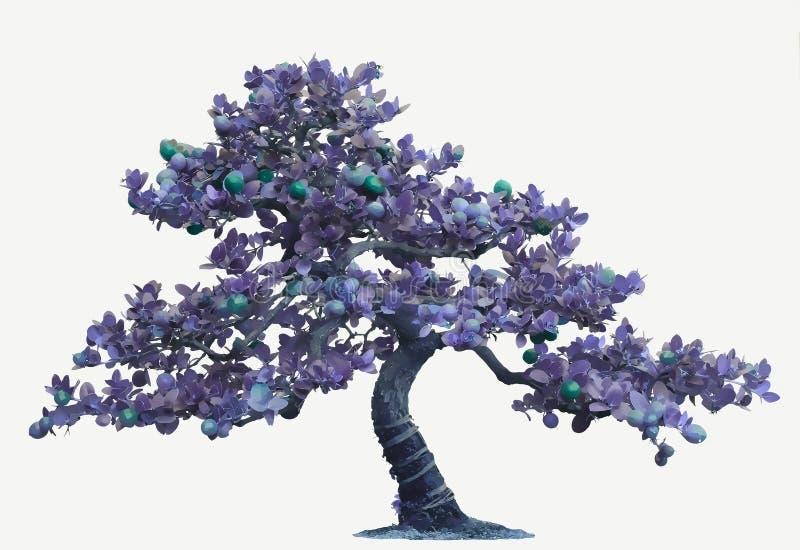 bonsaiillustrationtree arkivfoton