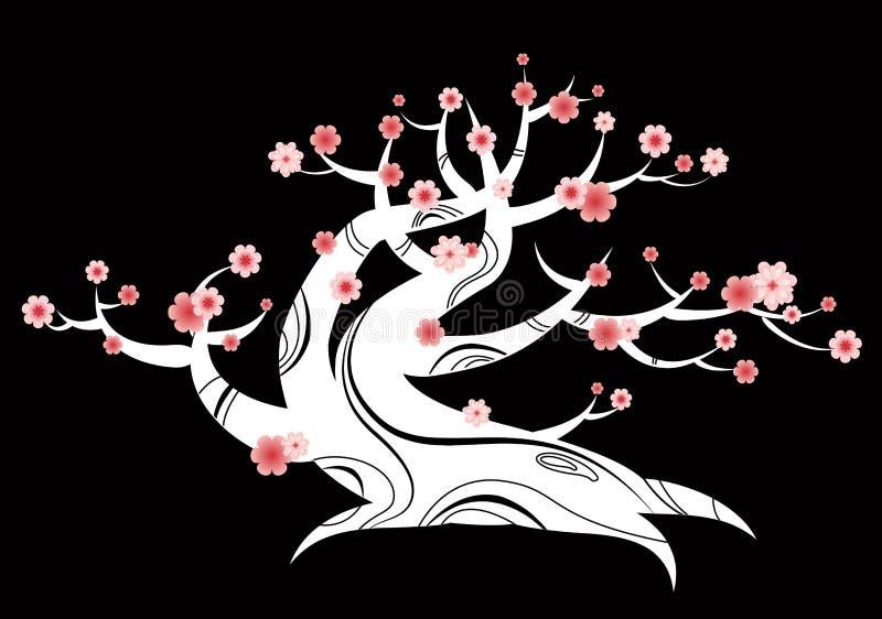 bonsaijapantree royaltyfri illustrationer