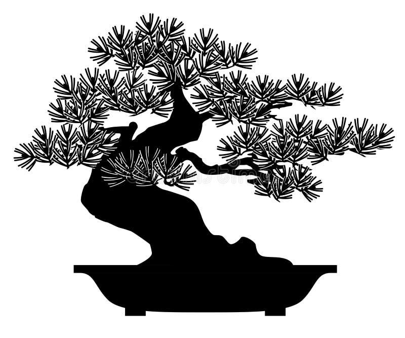 Bonsais Planta Potted Ilustraci?n del vector stock de ilustración