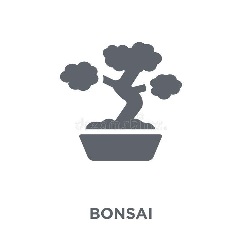 Bonsaisymbol från ekologisamling royaltyfri illustrationer